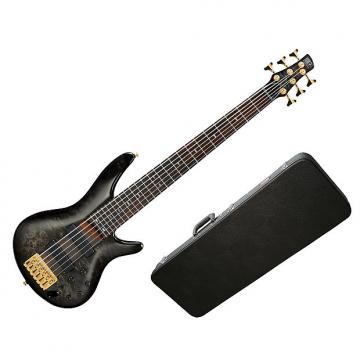 Custom Ibanez SR806TGB Electric Bass Transparent Gray Burst w/Hard-Shell Case