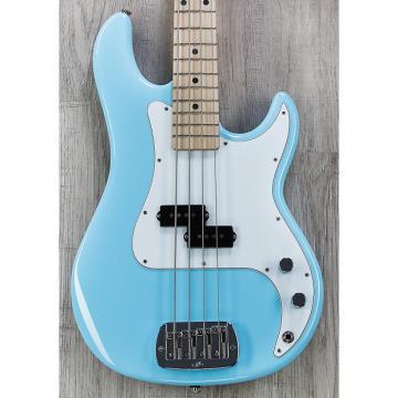"Custom G&L USA LB-100 Electric Bass, Himalayan Blue, Maple, 1 5/8"" Nut, 12"" Radius, Satin Neck Finish"