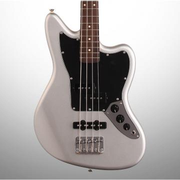 Custom Squier Vintage Modified Jaguar Special SS Electric Bass, Silver