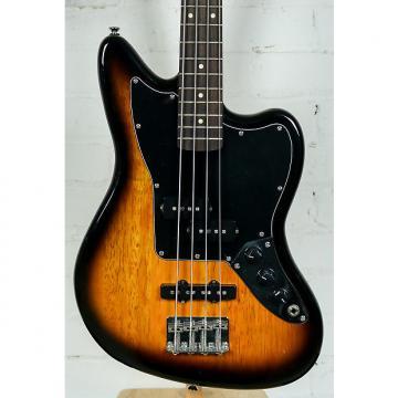 Custom Used Squier Jaguar Electric Bass Guitar Sunburst