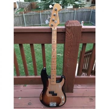 Custom Fender Road Worn Precision Bass 2009-2010 Two Tone Burst 50's '57 Anodized Relic Upgrades Hipshot
