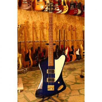 Custom Burny ZB-85 signature Norio Toshiro ( Thunderbird Bass ) See-Thru Blue