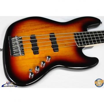 Custom Squier Deluxe Jazz Bass Active V 5-String Bass, 3-Color Sunburst, NEW! #23379