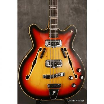 Custom original 1968 Fender CORONADO II hollowbody Bass Sunburst