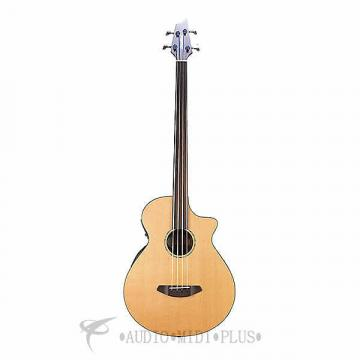 Custom Breedlove Solo Bass Fretless Acoustic/Electric Bass Guitar-Natural - 2016SBFAEBS - 875934006899