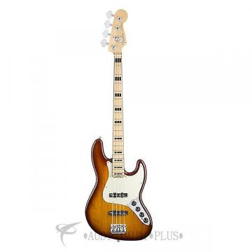 Custom Fender American Elite Jazz Ash Maple 4S Electri Bass Guitar Tobacco Sunburst- 197002752-885978655977