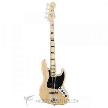 Custom Fender American Elite Jazz Ash Maple 4-Strings Electric Bass Guitar Natural - 197002721-885978649891