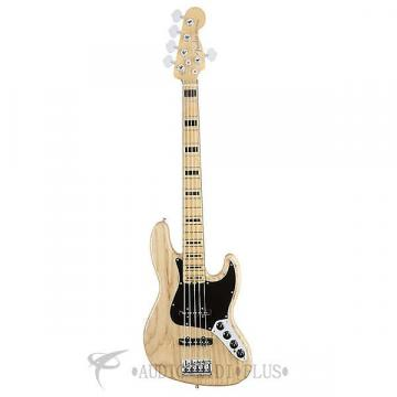 Custom Fender American Elite Jazz Ash 5 Strings Electric Bass Guitar Natural - 197102721 - 885978649914