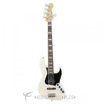 Custom Fender American Elite Jazz 5-Strings Electric Bass Guitar Olympic White - 197100705 - 885978655984