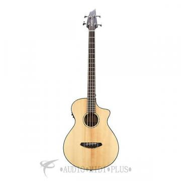 Custom Breedlove Pursuit Bass Acoustic/Electric Bass Guitar - Natural - PBAEBGNT - 875934006172