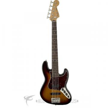 Custom Fender Deluxe Active Jazz Bass V Rosewood Fingerboard 5 Strings Electric Bass Guitar Brown Sunburst