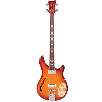Custom Italia Rimini 4 Bass Guitar Cherry Sunburst w/ Italia Deluxe Gig Bag