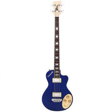 Custom Italia  Maranello Bass 4-String Bass Guitar Blue w/ Italia Deluxe Gig Bag