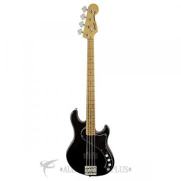 Custom Fender Squier Deluxe Dimension Maple Fingerboard 4-String Electric Bass Guitar Black - 301402506