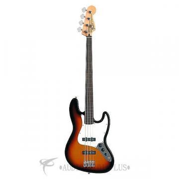 Custom Fender Standard Jazz Bass Fretless Rosewood Fingerboard 4S Electric Bass Guitar Brown Sunburst - 146