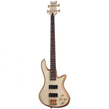 Custom Schecter Stiletto Custom-4 Electric 4 String Bass Guitar -  Natural Satin