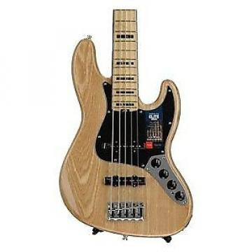 Custom American Elite Jazz Bass V Natural