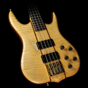 Custom Used 1996 Ken Smith CR4 Maple Top Electric Bass Guitar Natural