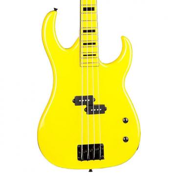 Custom Dean Guitars CZONE BASS YEL Custom Zone Bass Guitar, Yellow