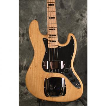 Custom Vintage VJ74 Reissued Jazz Bass Series 2016 Natural Solid Ash Block Markers w Wilkinson Pickups