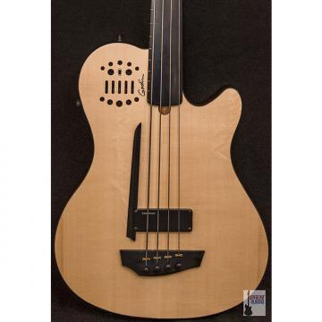 Custom Godin A4 Ultra Natural Fretless Bass Ebony SA