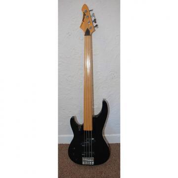 Custom Aria fretless 4-string bass, left handed,  2000, Black