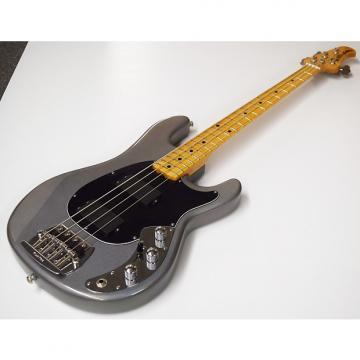 Custom Ernie Ball Music Man  Classic Sabre Electric Bass Mayan Silver Maple Flame Neck Silver