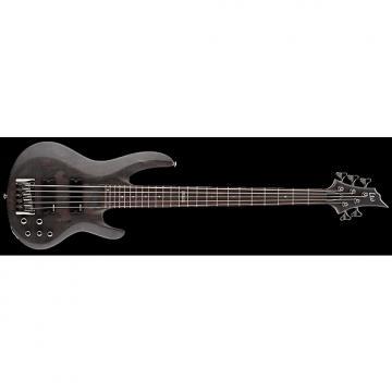 Custom ESP LTD B-205 B Series Bass Guitar 5-string See Thru Black Satin Maple Top w/ Active EQ LB-205SMSTBLKS