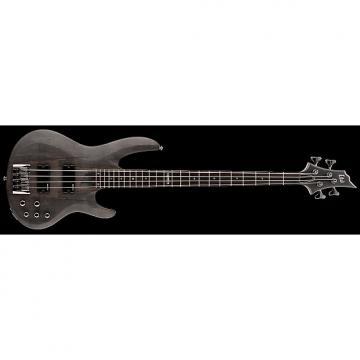 Custom ESP LTD B-204 B Series Bass Guitar 4-string See Thru Black Satin Maple Top w/ Active EQ LB-204SMSTBLKS