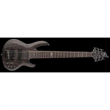 Custom ESP LTD B-206 B Series Bass Guitar 6-string See Thru Black Satin Maple Top w/ Active EQ LB-206SMSTBLKS