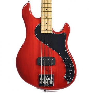 Custom Squier Deluxe Dimension Bass IV MN Crimson Red Transparent