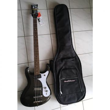 Custom Danelectro 64 bass Mosrite Style 2016 metallic black w/ gig bag