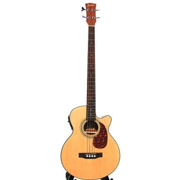 Custom Acoustic Bass Guitar 49 inch installed EQ iBass241 with Gig Bag, Stand, eTuner,  Cable