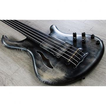 Custom Mayones Patriot 5 Maurizio Rolli Fretless 5-String Bass Antique Black Oil Finish with Hard Case