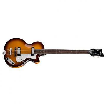 Custom Hofner HI-CB-SB-O Ignition Series Club Bass sunburst with hardshell case