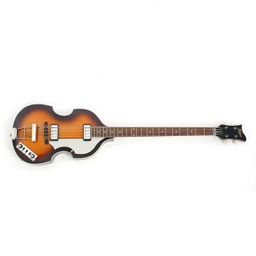 Custom Hofner Contemporary Semi-Hollow Body Violin Bass Guitar Dark Brown Burst + Case