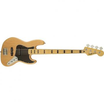 Custom Squier by Fender Vintage Modified Jazz Electric Bass Guitar 70s Maple Fingerboard Natural