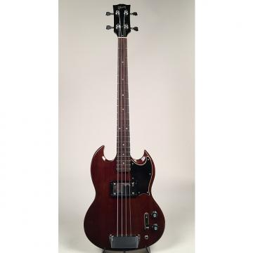 Custom 1972/1973 Cherry Mahogany Gibson EB-4L with Original Soft Shell Case