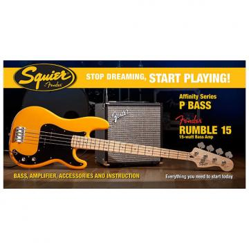 Custom Fender Squier Stop Dreaming, Start Playing Affinity Precision Bass With Rumble 15 Amp