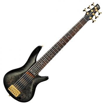 Custom Ibanez SR806 TGB Transparent Gray Burst 6-String Electric Bass Guitar