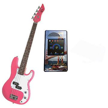 Custom Bass Pack-Pink Kay Electric Bass Guitar Medium Scale w/Metronome (San Francisco)