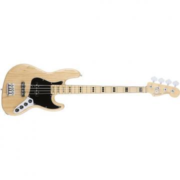 Custom Fender American Elite Jazz 4-String Bass Guitar Maple Fingerboard Natural + Case