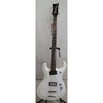 Custom Danelectro '64 Electric Bass -White Pearl w/ free hard case