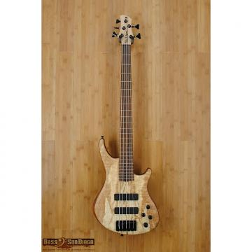 Custom Roscoe SKB Standard Plus 5 string bass guitar 2016 Quilted Spalt Maple