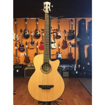 Custom Luna Acoustic Short Scale Tribal Bass A/E