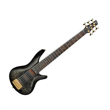 Custom Ibanez SR806TGB Electric Bass Transparent Gray Burst