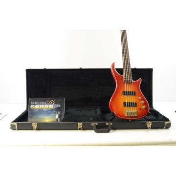 Custom Pedulla ThunderBolt 5 String Electric Bass - Cherry Sunburst w OHSC Bartolini