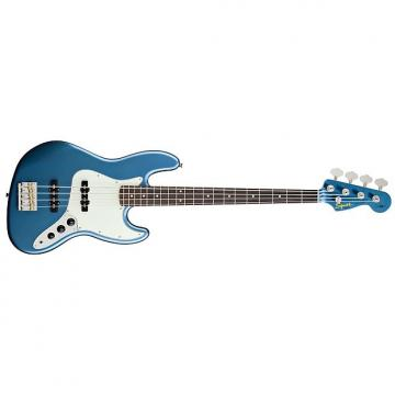 Custom Squier Artist Series James Johnston Jazz Bass Guitar - Lake Placid Blue