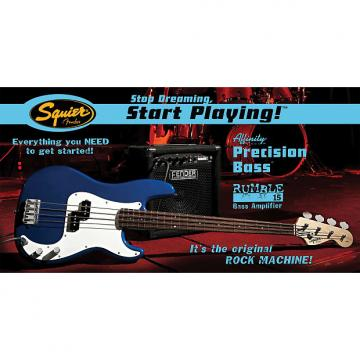Custom Squier Affinity P Bass Electric Bass Pack - Metallic Blue