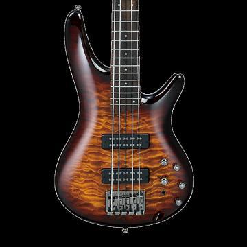 Custom Ibanez SR405EQM 5-String Bass - Dragon Eye Burst